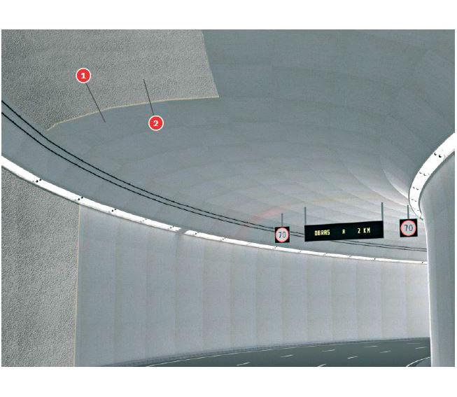 Falso techo túneles Tecbor® B 20 REI-120