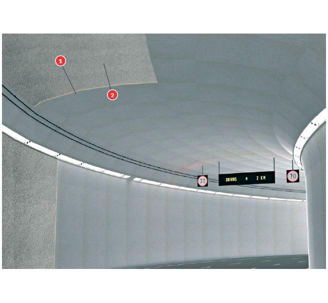 Falso techo túneles Tecbor® 23 RWS-120