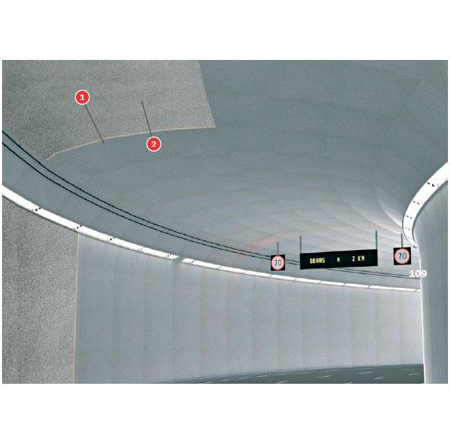 Falso techo túneles Tecbor® 24 - RABT-ZTV-170