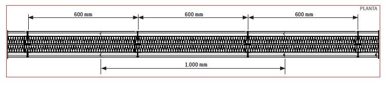 Tabique TECBOR® Y 25 mm