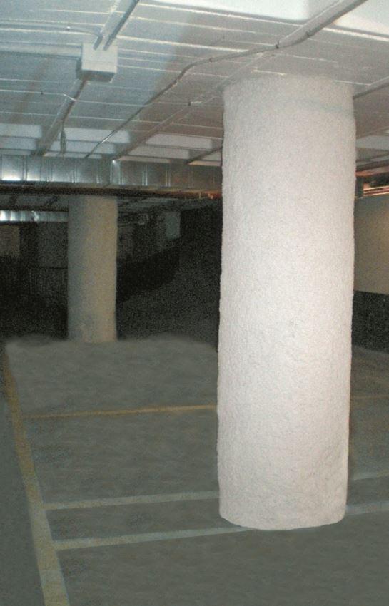 Protección de fibra de carbono en estructuras