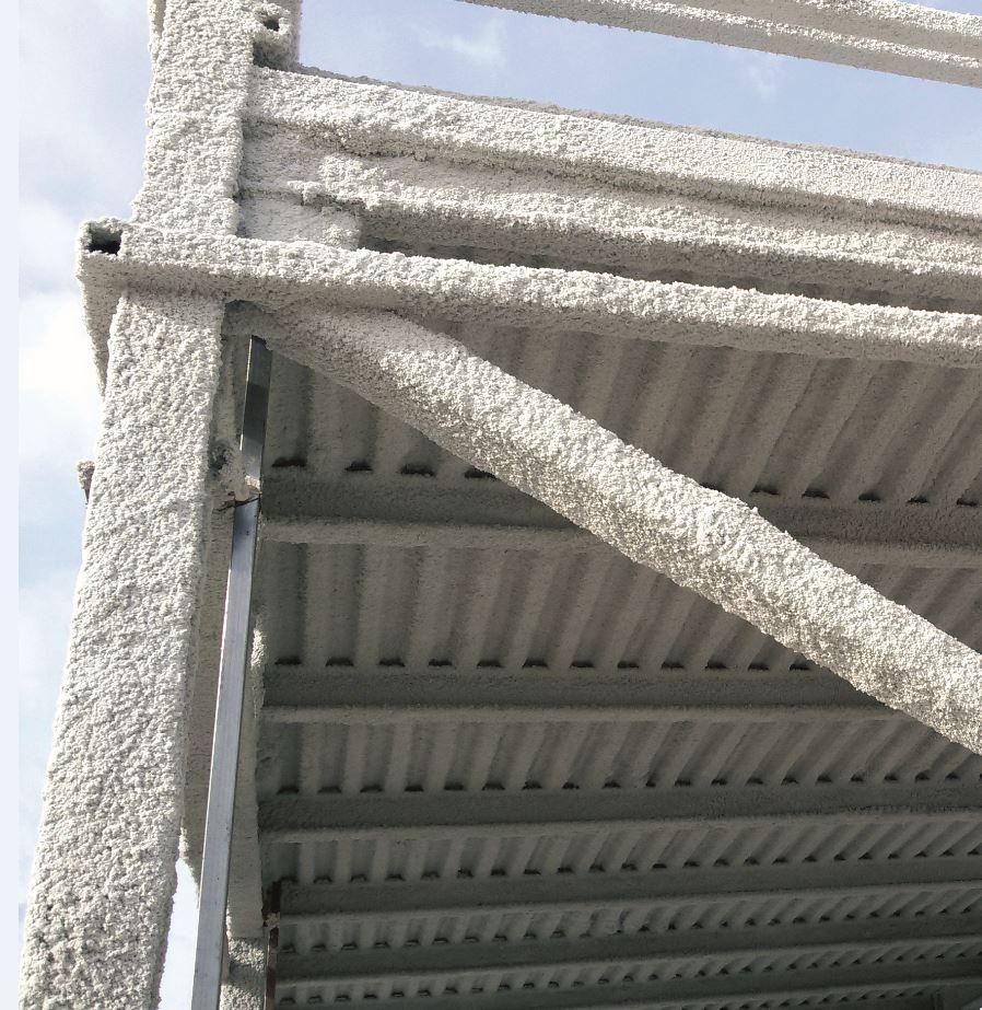 Protección de elementos mixtos de hormigón / Chapa de acero perfilada