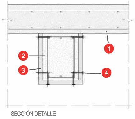 Protección vigas y losas de hormigón Tecbor A R-30 - R 240
