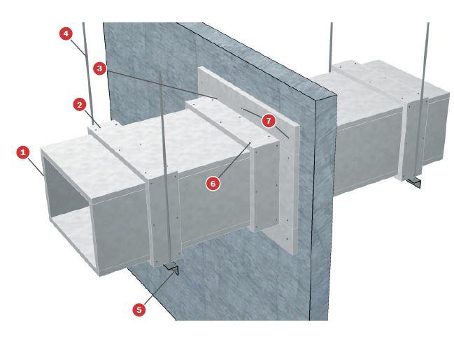 Conducto de ventilación une en 1366-1 y UNE en 1366-8 Tecbor 30, tipo A, B y C - EI-120