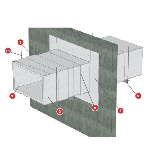 Conducto de ventilación UNE en 1366-1 Tecbor® B 40+10 tipo A y B EI-180